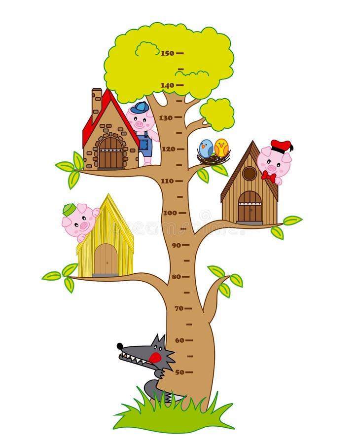 Metro dei bambini del paraurti royalty illustrazione gratis