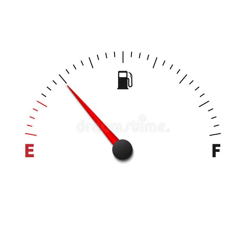 metro del indicador de la gasolina stock de ilustración