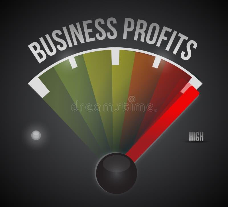 Metro di misura del livello di profitto di affari illustrazione vettoriale