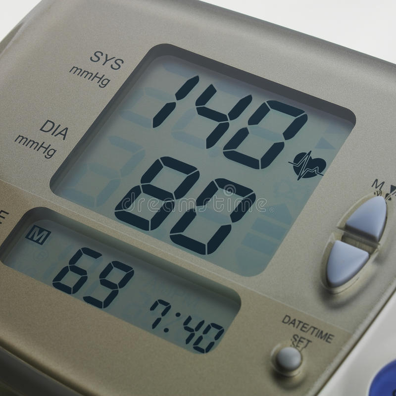 Metro di pressione sanguigna di Digital fotografie stock