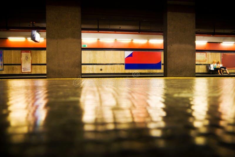 Metro do italiano de Roma imagens de stock royalty free