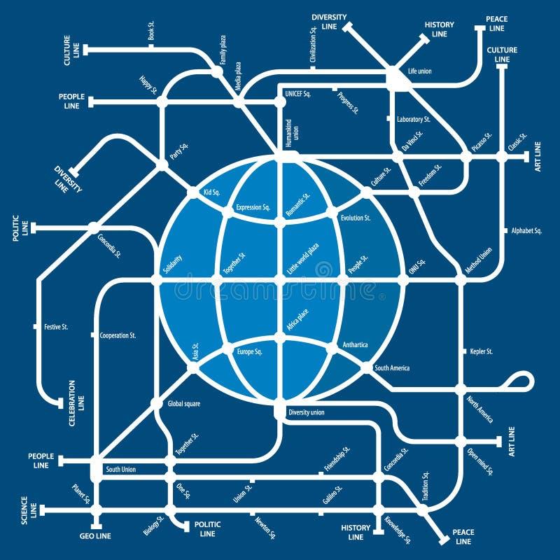 Metro do mundo ilustração royalty free