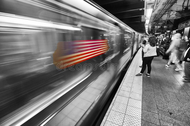 Metro do mundo de New York fotos de stock