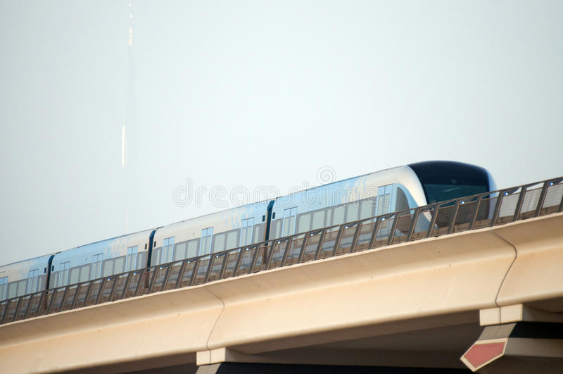 Metro Dubai. Metro in Dubai during day time royalty free stock photography