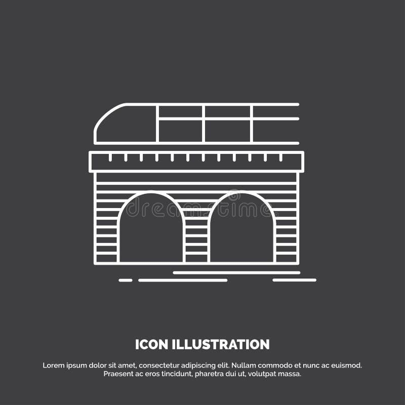 Metro, Eisenbahn, Eisenbahn, Zug, Transport Ikone Linie Vektorsymbol f?r UI und UX, Website oder bewegliche Anwendung stock abbildung