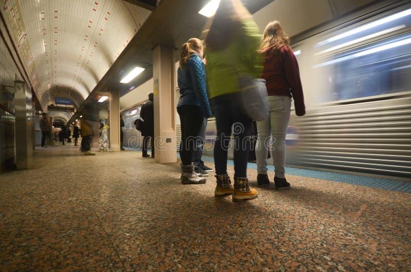 Metro em Chicago imagens de stock