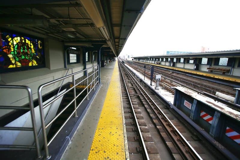 Metro em NYC fotografia de stock