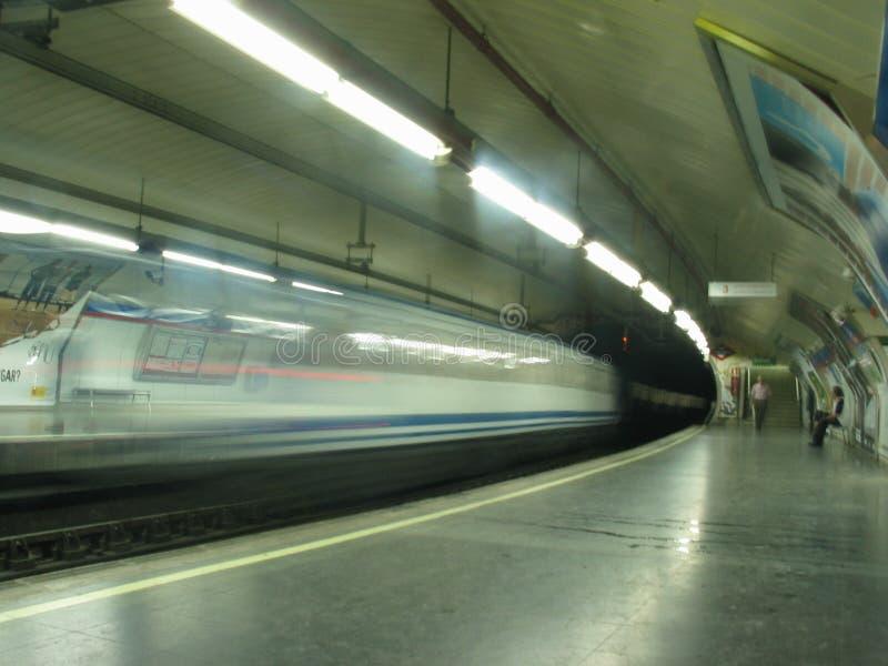 Metro en el movimiento imagen de archivo