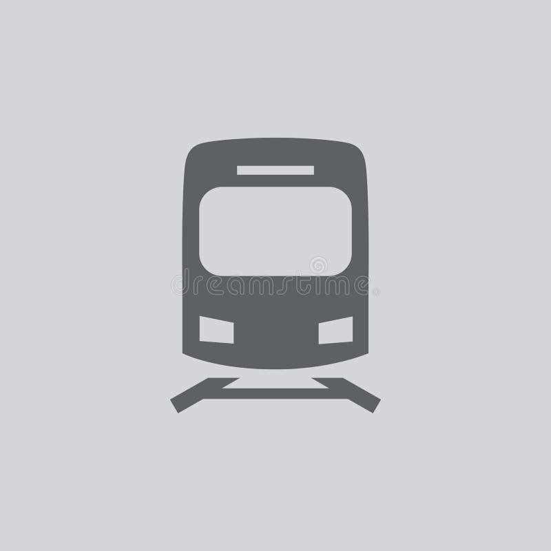 Metro en treinpictogram stock illustratie