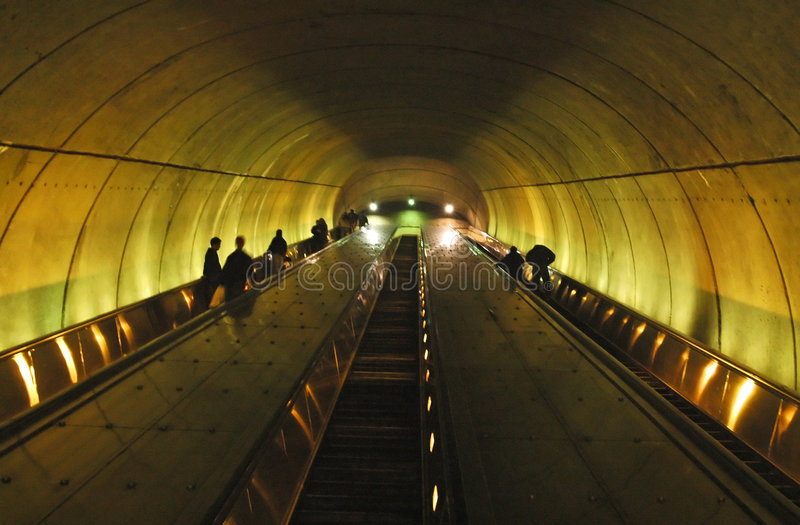 Metro Escalator. In Washington DC stock images