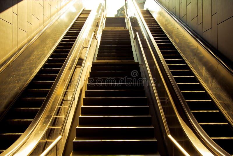 Metro Escalators Royalty Free Stock Images