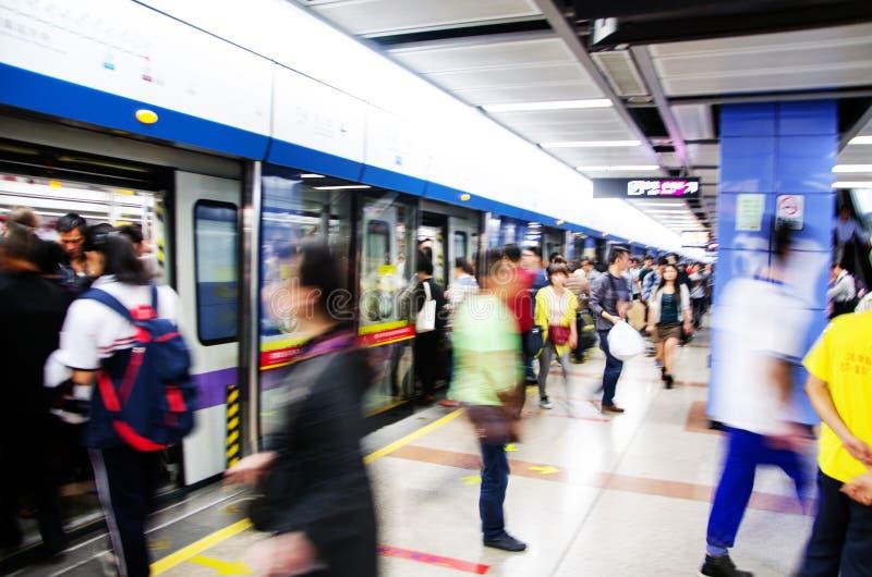 Metro estradowy dok, ludzie biznesu aktywność fotografia royalty free