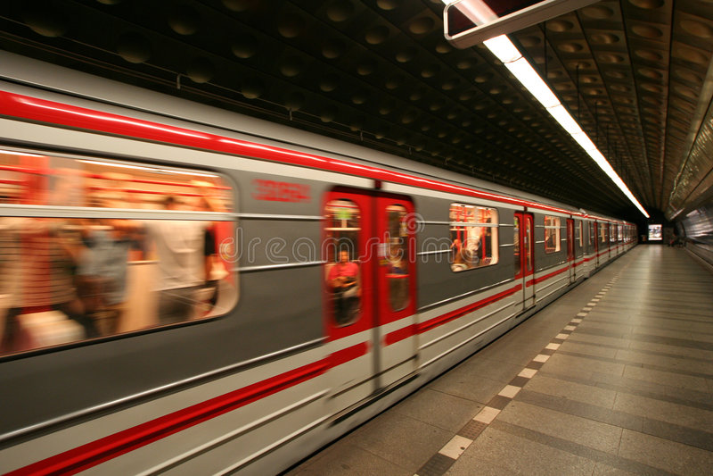Metro europeu de Praga fotografia de stock royalty free