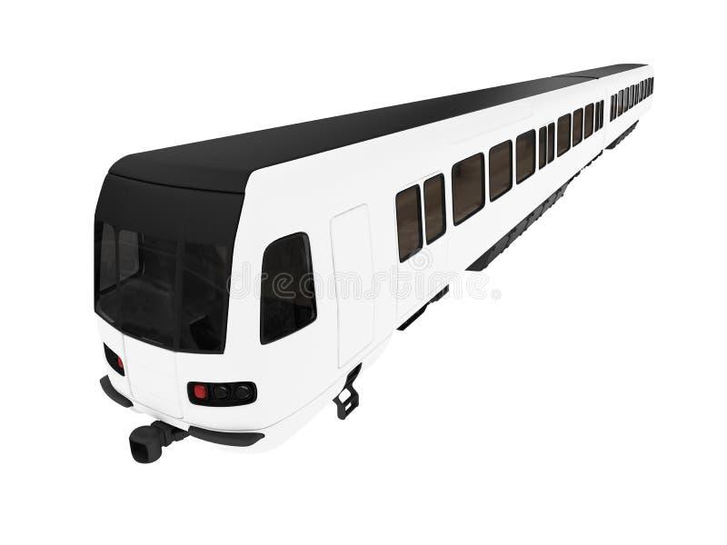 Metro getrennte Ansicht stock abbildung