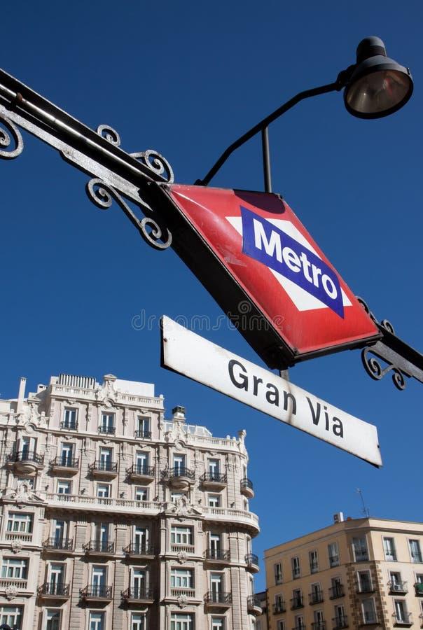 Metro Gran via royalty-vrije stock foto