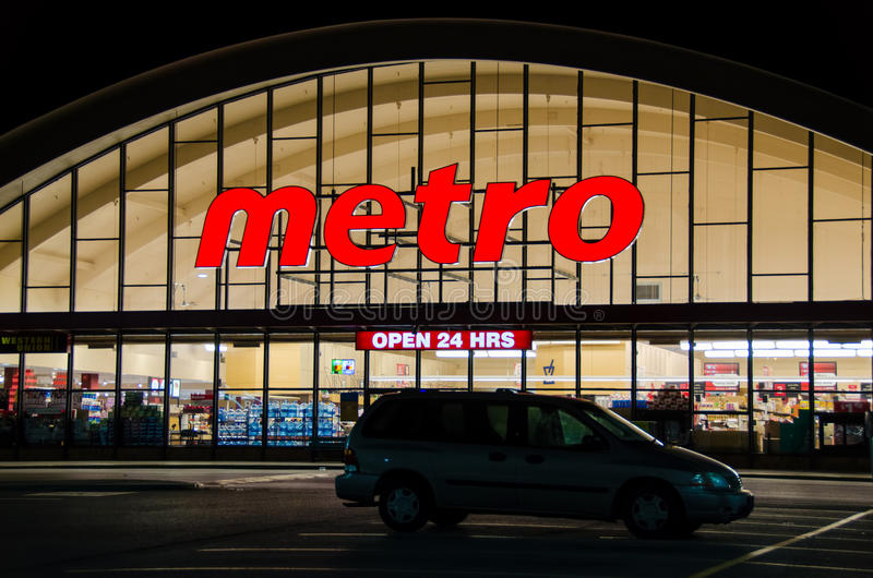 Download Metro Grocery Store editorial image. Image of corporation - 35121435