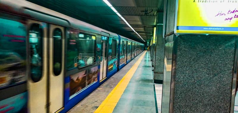 Metro indiano foto de stock royalty free