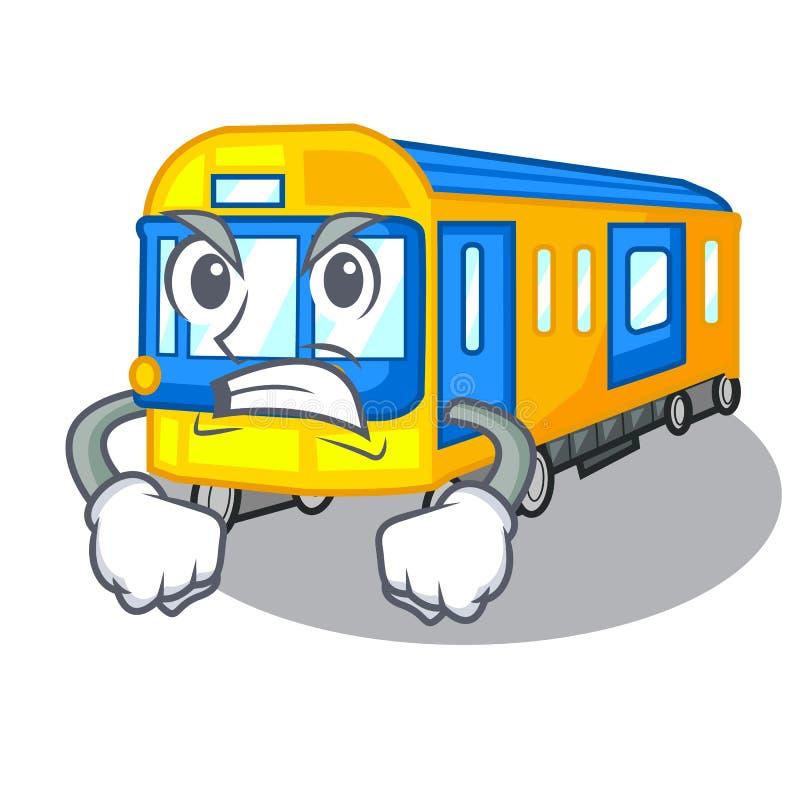 Metro irritado isolado nos desenhos animados ilustração stock
