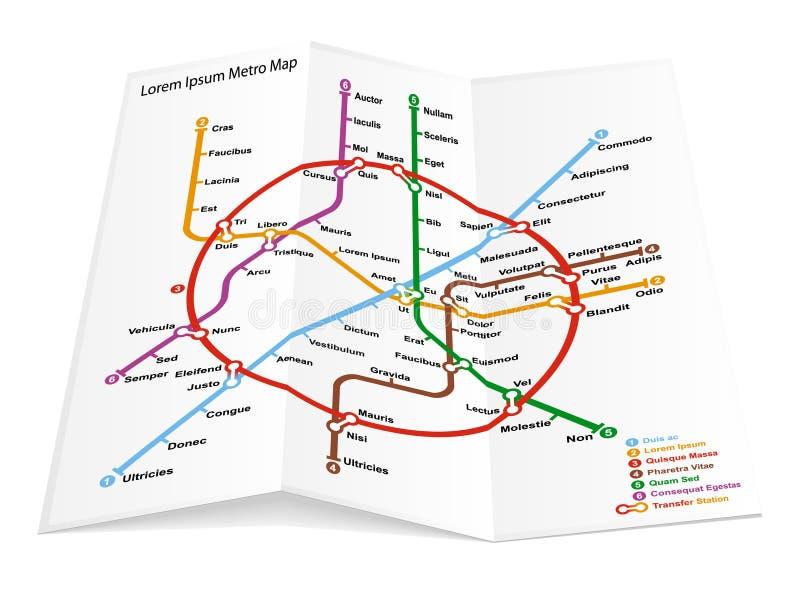 Metro kaartpictogram royalty-vrije illustratie