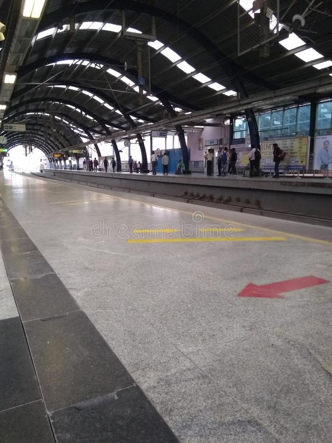 Metro kolei stacja obraz royalty free