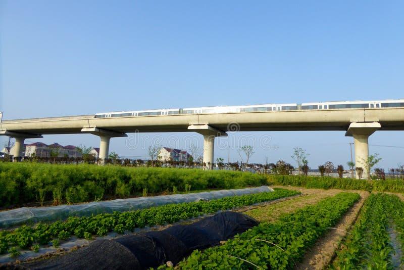 Download Metro ślad przez pola zdjęcie stock. Obraz złożonej z asia - 53778796