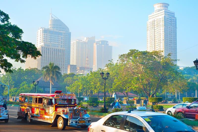 Metro Manila da manhã fotos de stock