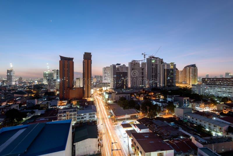 Metro Manila. Metro Manila Skyline at night royalty free stock image