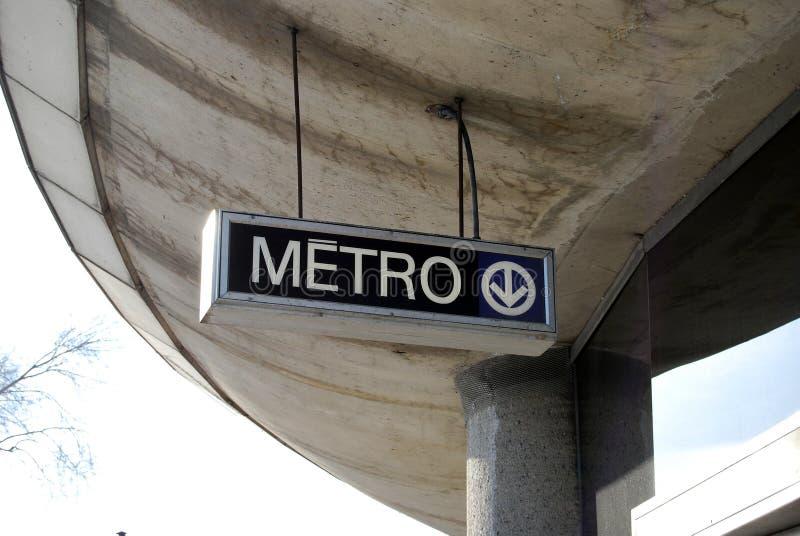 Metro/Metro royalty-vrije stock afbeelding
