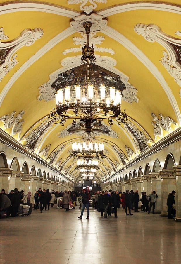 metro moscow arkivbild