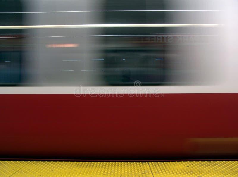 Metro in motie stock foto