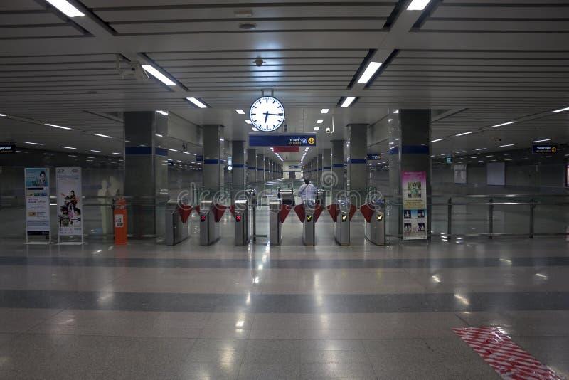 Metro (MRT) station in Bangkok royalty free stock photography
