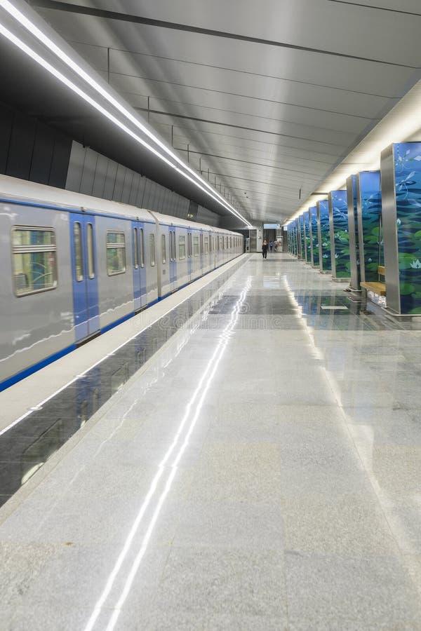 Metro na stacyjnym Ozernaya w Moskwa zdjęcia stock