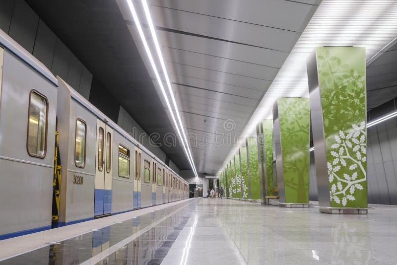 Metro na stacyjnym Ramenky w Moskwa obraz stock