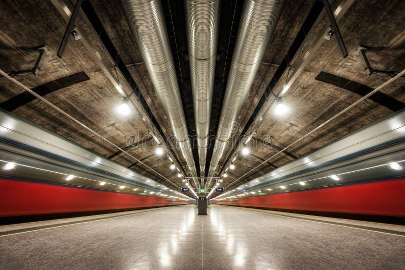 Metro Noorwegen van Oslo stock foto's