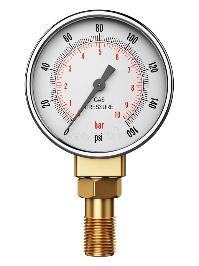 Metro o manómetro industrial de alta presión del indicador del gas ilustración del vector