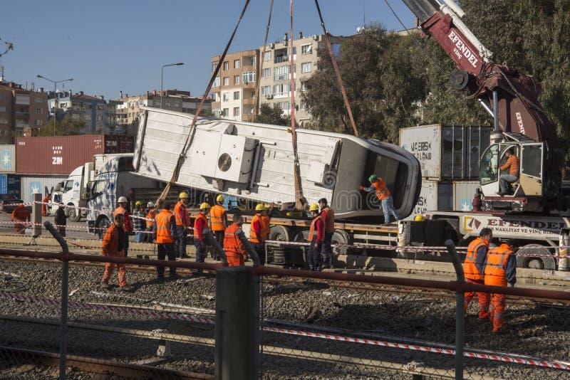 Metro ongeval stock afbeeldingen