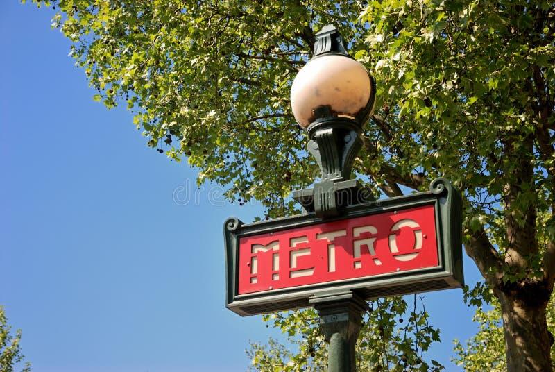 Metro paryski znak zdjęcie stock
