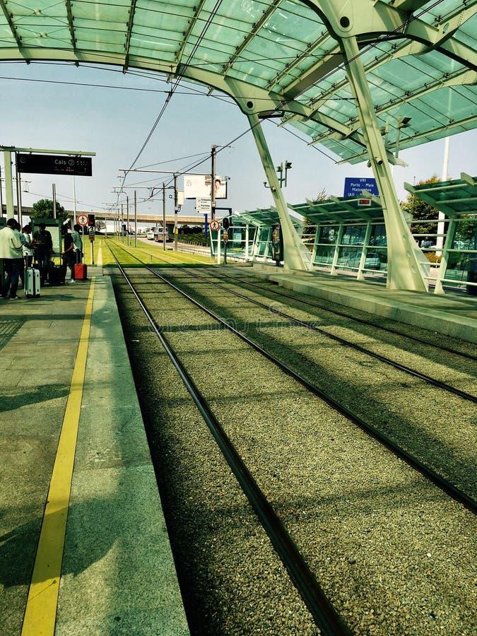 Metro in Porto royalty-vrije stock afbeeldingen