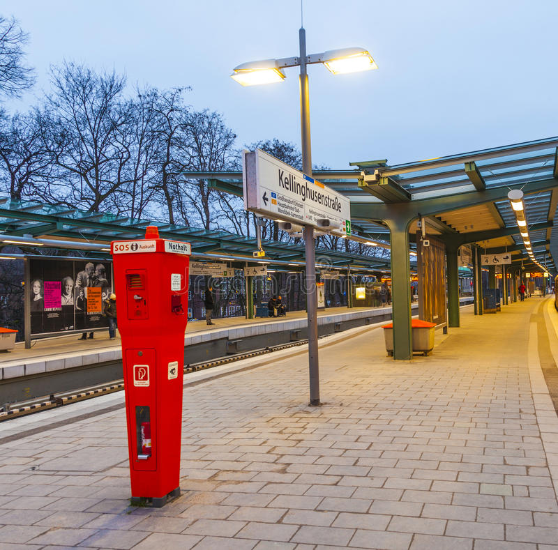 Metro Post Kellinghusen Strasse stock foto's