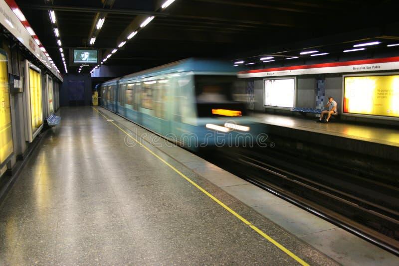 Metro Post in Santiago, Chili royalty-vrije stock foto's