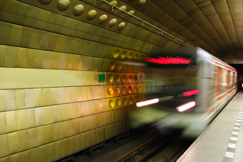 Metro in Prague. stock photos