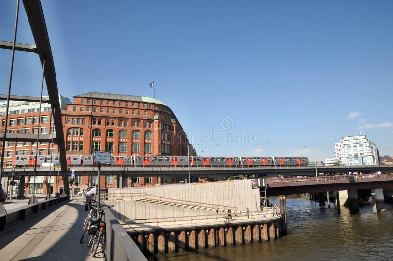 Metro przejażdżka w Hamburg zdjęcie stock