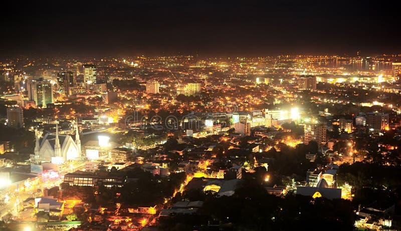 Metro przy noc Cebu obrazy royalty free