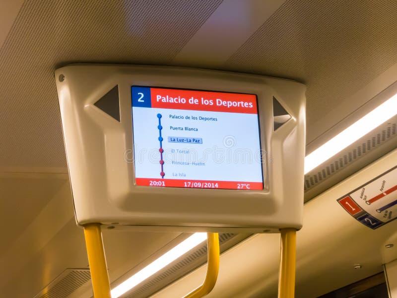 Metro routevertoning royalty-vrije stock foto's