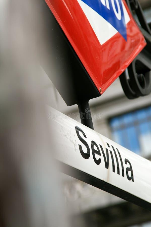 Metro Sevilha fotografia de stock