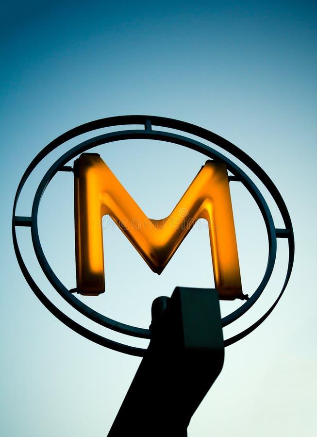 Metro Sign stock image