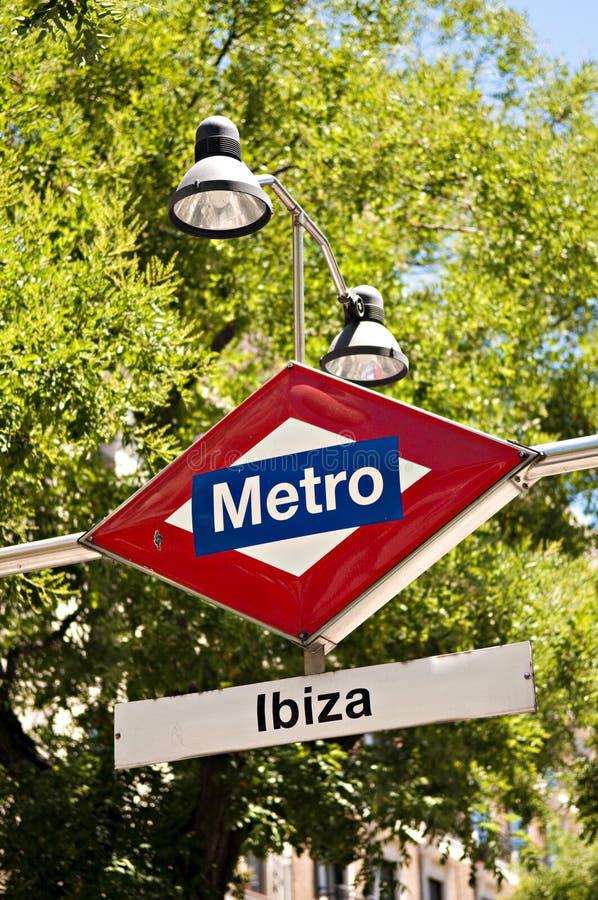 Metro sign, madrid stock photography