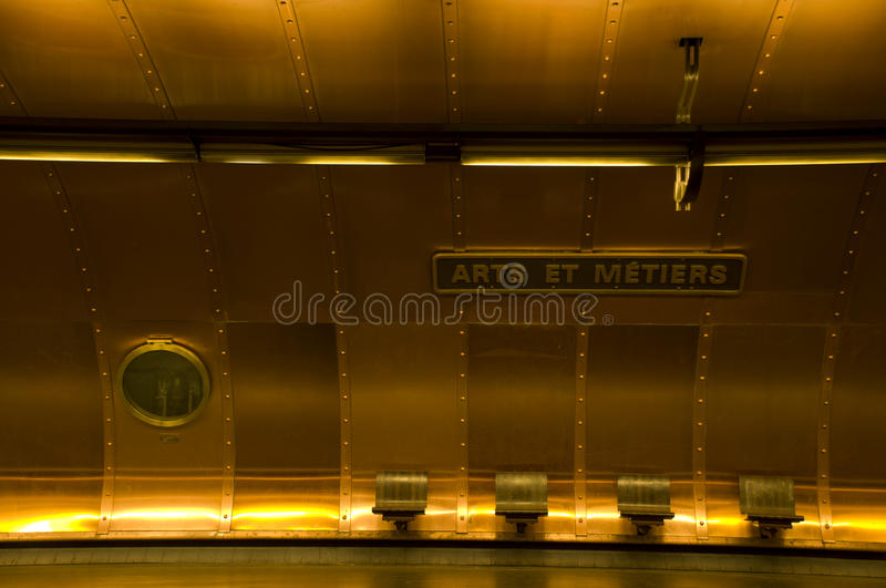Metro station Arts et Metiers. Paris France royalty free stock photos