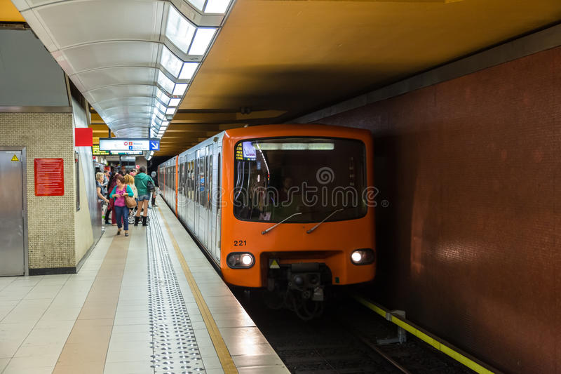 Metro station in Brussels stock image