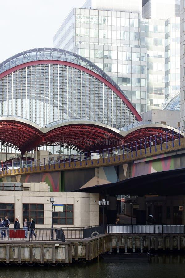 Metro Station Canary Wharf stock image